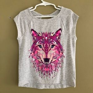 Gymboree Shirts & Tops - Gymboree wolf top S 5/6
